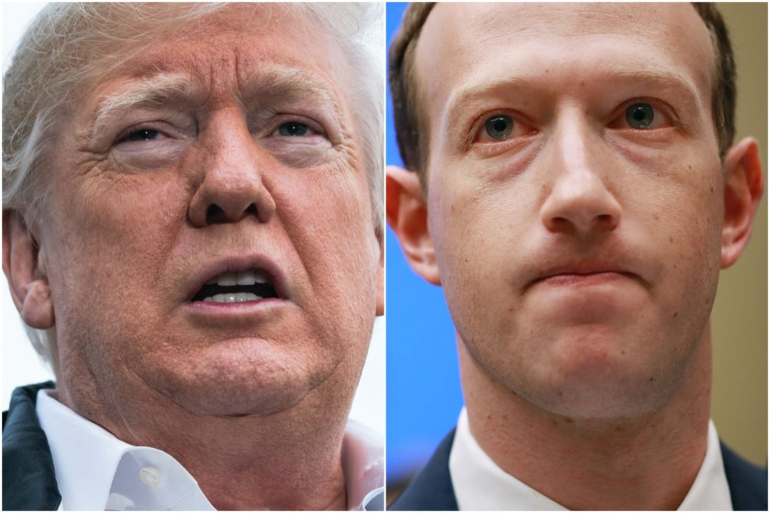 Facebook bans Nazi campaign ads, for using extremist Trump cult symbols