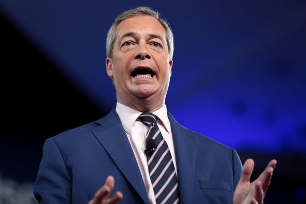 Nigel Farage Was Trapped on Campaign Bus By Milkshake Wielding Protestors