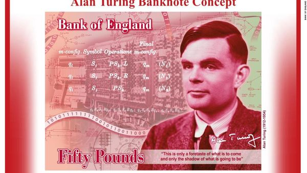 Alan Turing to be the Face of the New £50 Note