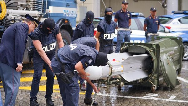 Far Right Fanatics caught with Air-to-Air MISSILE in Italy